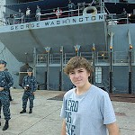 Touring the U.S.S. George Washington