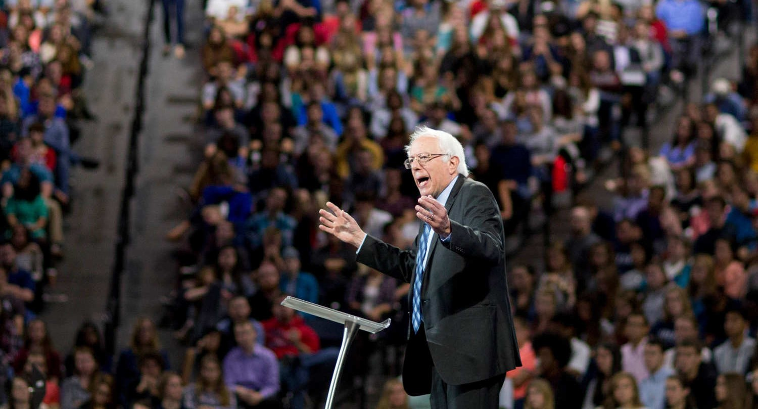 Bernie Sanders Does A John the Baptist At Liberty University